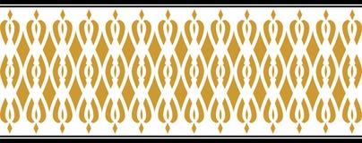 Elegant dekorativ gräns som utgöras av guld- och svarta färger Royaltyfri Fotografi