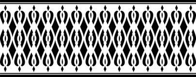 Elegant dekorativ gräns som utgöras av svart färg Royaltyfri Foto