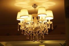 Elegant dekorativt ljus i rummet royaltyfria bilder