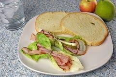 Elegant deli ham appetizer or brunch Royalty Free Stock Images
