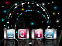 Elegant design  for 2012 celebration Royalty Free Stock Photo