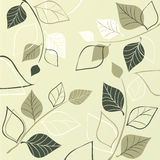 Elegant design. With green leafs Royalty Free Stock Photos