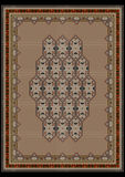 Elegant design beige carpet with a geometric pattern Royalty Free Stock Photo