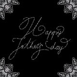Elegant design of card for Fathers day Stock Photo