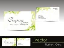 elegant design corporate business card Stock Image