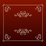 Elegant design ecru square frame royalty free stock image