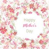 Elegant design greeting cards Mother`s Day stock image