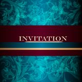 Elegant design of luxury invitation card in vintage style Royalty Free Stock Images
