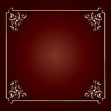 Elegant design square frame royalty free stock image