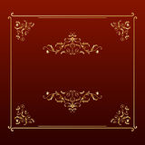Elegant design square frame. Illustration of Elegent Design Frame Royalty Free Stock Image
