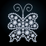 Elegant Diamond butterfly Stock Photos
