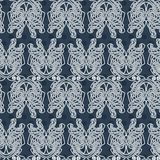 Elegant difficult curled ornamental gothic tattoo seamless pattern. Celtic style. Maori. Stock Image