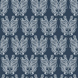 Elegant difficult curled ornamental gothic tattoo seamless pattern. Celtic style. Maori. Weaving. Colored image Stock Photography