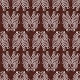 Elegant difficult curled ornamental gothic tattoo seamless pattern. Celtic style. Maori. Weaving. Colored image Stock Photo