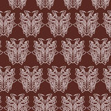 Elegant difficult curled ornamental gothic tattoo seamless pattern. Celtic style. Maori. Weaving. Colored image Royalty Free Stock Photo