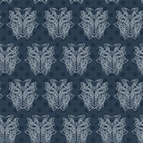 Elegant difficult curled ornamental gothic tattoo seamless pattern. Celtic style. Maori. Weaving. Colored image Stock Photos