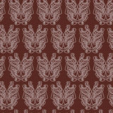Elegant difficult curled ornamental gothic tattoo seamless pattern. Celtic style. Maori. Weaving. Colored image Royalty Free Stock Images