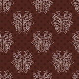Elegant difficult curled ornamental gothic tattoo seamless pattern. Celtic style. Maori. Royalty Free Stock Images