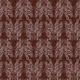 Elegant difficult curled ornamental gothic tattoo seamless pattern. Celtic style. Maori. Stock Photography