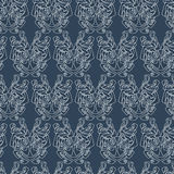 Elegant difficult curled ornamental gothic tattoo seamless pattern. Celtic style. Maori. Weaving. Colored image Royalty Free Stock Image