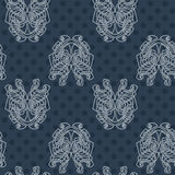 Elegant difficult curled ornamental gothic tattoo seamless pattern. Celtic style. Maori. Weaving. Colored image Stock Images