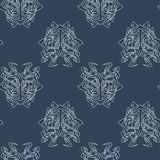 Elegant difficult curled ornamental gothic tattoo seamless pattern. Celtic style. Maori. Stock Photo