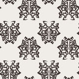 Elegant difficult curled ornamental gothic tattoo seamless pattern. Celtic style. Maori. Stock Images
