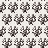 Elegant difficult curled ornamental gothic tattoo seamless pattern. Celtic style. Maori. Weaving. Monochrome image Royalty Free Stock Photos