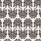 Elegant difficult curled ornamental gothic tattoo seamless pattern. Celtic style. Maori. Weaving. Monochrome image Royalty Free Stock Photo