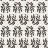 Elegant difficult curled ornamental gothic tattoo seamless pattern. Celtic style. Maori. Weaving. Monochrome image Stock Image
