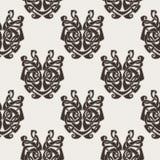Elegant difficult curled ornamental gothic tattoo seamless pattern. Celtic style. Maori. Weaving. Monochrome image Stock Photos