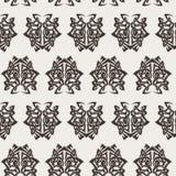 Elegant difficult curled ornamental gothic tattoo seamless pattern. Celtic style. Maori. Weaving. Monochrome image Stock Photo
