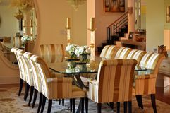 Elegant dining room. This is a picture of an elegant and fancy dining room Stock Photo