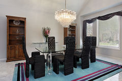 Elegant dining room Royalty Free Stock Photos