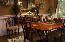 Elegant Dining Room Stock Photo
