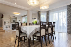 Elegant dining room Stock Photography