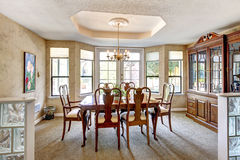 Elegant dining room with antique furniture. Royalty Free Stock Photos