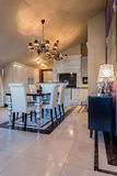 Elegant dining room interior Royalty Free Stock Image