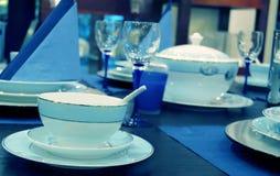 Elegant dining setting Stock Images