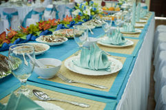 Elegant Dining Table. Dining table for wedding reception party Stock Photography