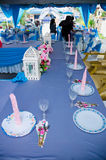 Elegant Dining Table. Dining table for wedding reception party Stock Images