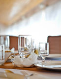 Elegant dining table Royalty Free Stock Photos