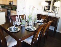 Elegant dining table area Royalty Free Stock Images
