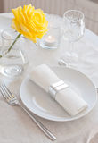 Elegant dining table setting Stock Image