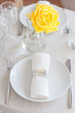 Elegant dining table setting Royalty Free Stock Images