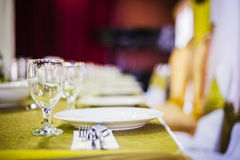 Elegant Dining Table Royalty Free Stock Image