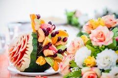 Elegant Dining Table Stock Photo