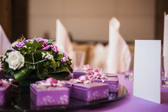 Elegant Dining Table Stock Image