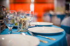 Elegant Dining Table Royalty Free Stock Photography