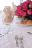 Elegant dinner place setting Stock Photo